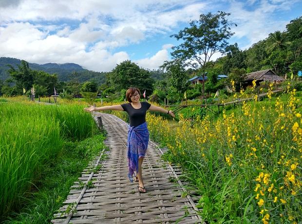 Pai Bamboo Bridge – cây cầu tre nhất định phải ghé qua ở Pai