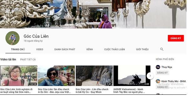 Thông báo kênh Youtube Góc Của Liên chính thức ra mắt